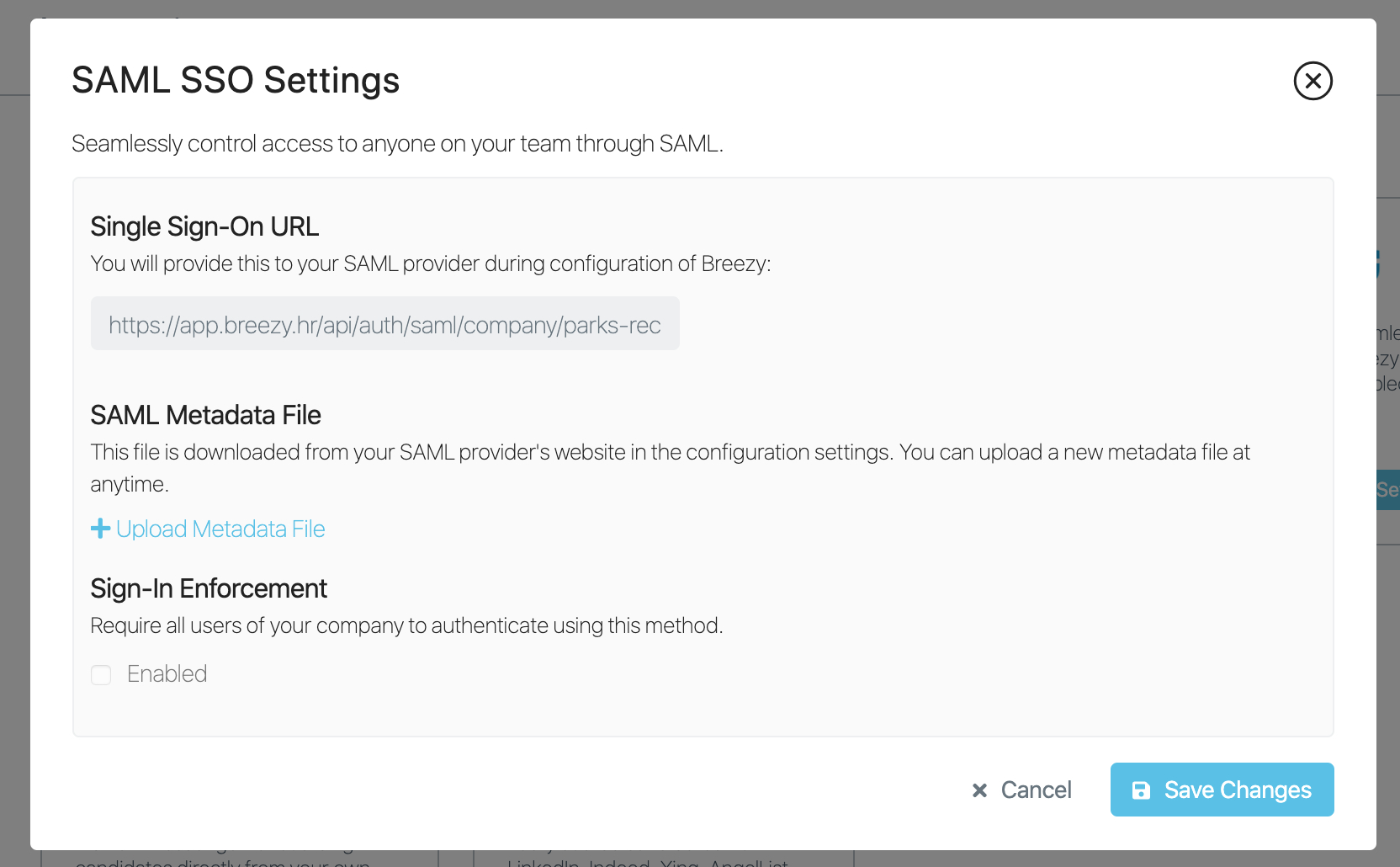 Saml regarding Sharing Metadata Xml Outlook Calendar