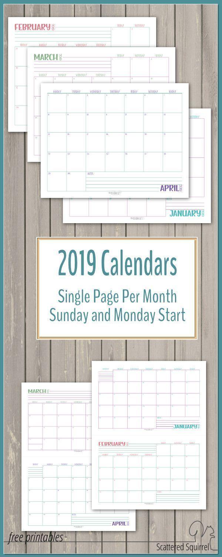 Scattered Squirrel Calendar | Calendar For Planning pertaining to Scattered Squirrel Monthly Calendar