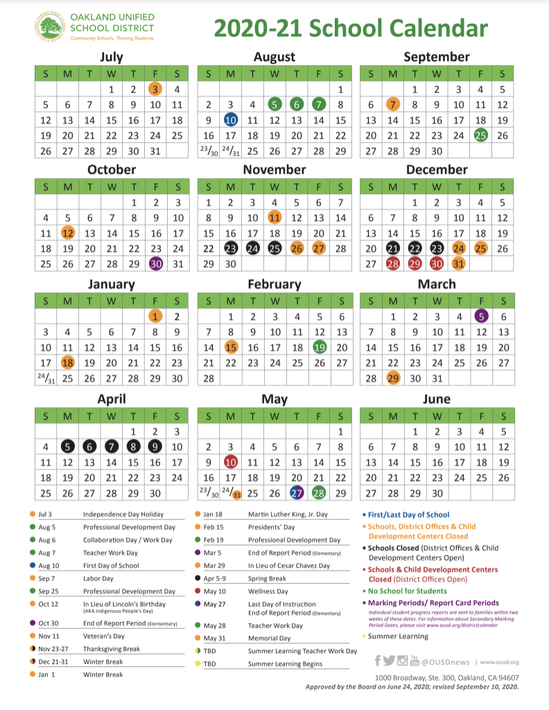 School Year Calendar  202021 School Year Calendar with regard to Columbia County Ga School Calendar