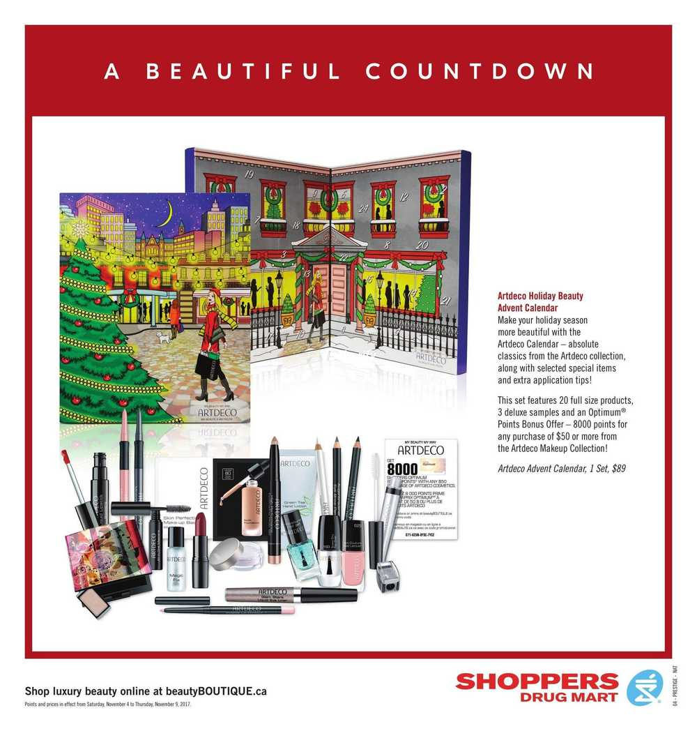 Shoppers Drug Mart (On) Flyer November 4 To 9 Canada with regard to Shoppers Photo Calendar