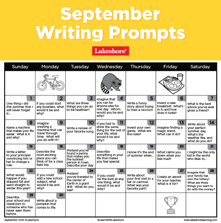 Spark An Insightful Discussion Or Daily Journal Entry With with regard to Lakeshore Learning Writing Prompts