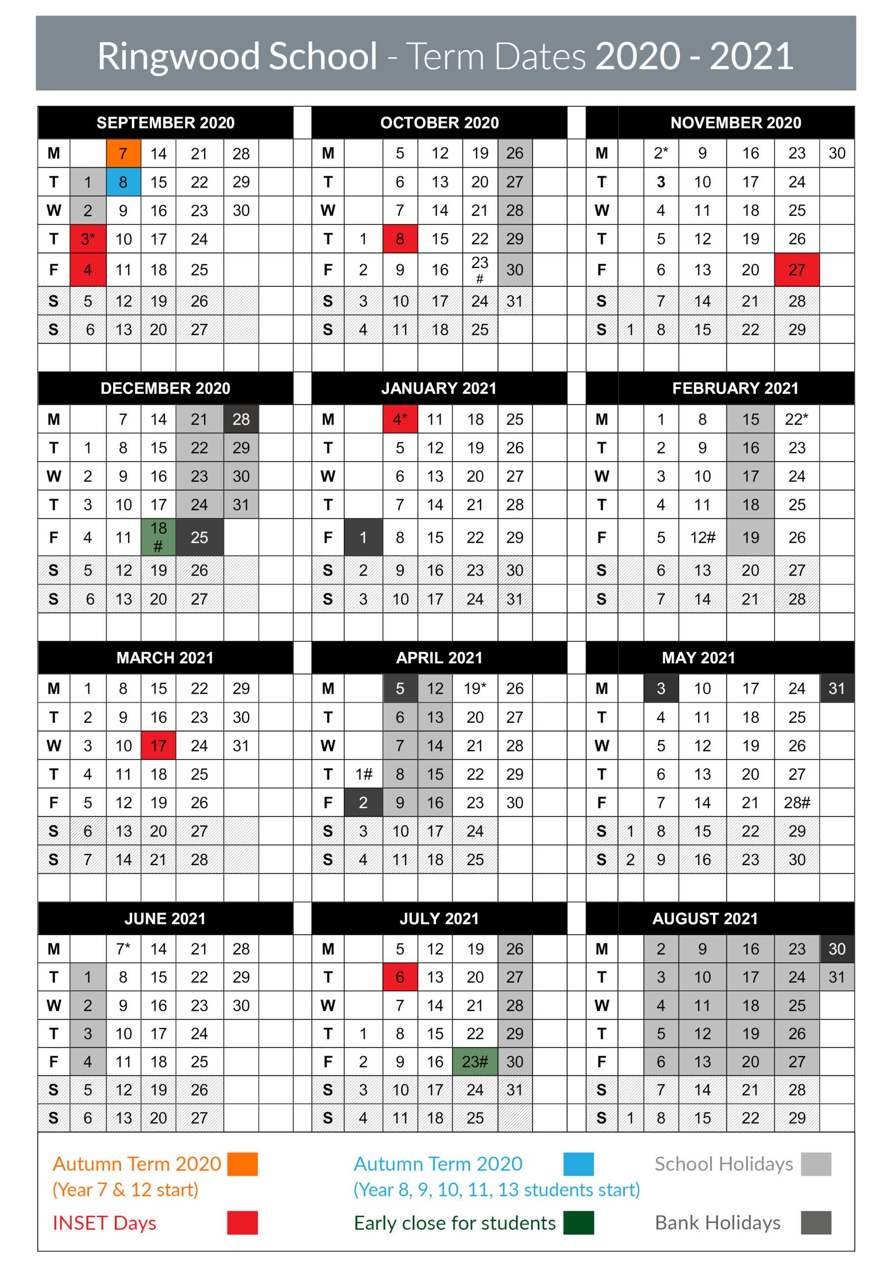 Term Dates – Ringwood School with regard to Matravers School Calendar