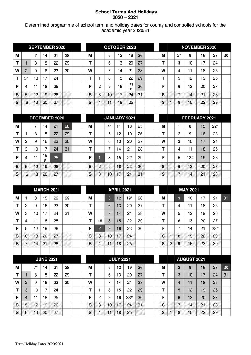 Term Dates – St Mark'S Cofe Primary School within Matravers School Calendar