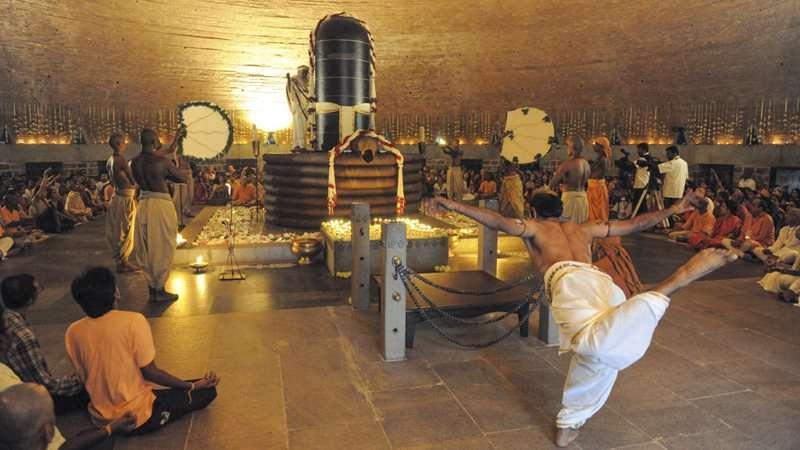 The Night Of The Dark One  Shivarathri inside Isha Foundation Lunar Calendar