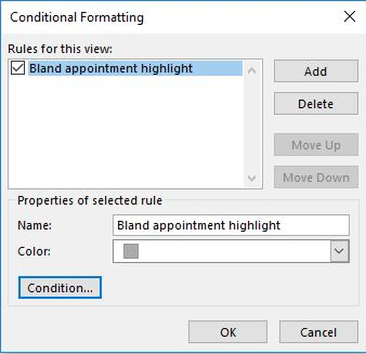 Three Ways To Find The Current Day In Outlook Calendar Views with regard to Conditional Formatting Outlook Calendar