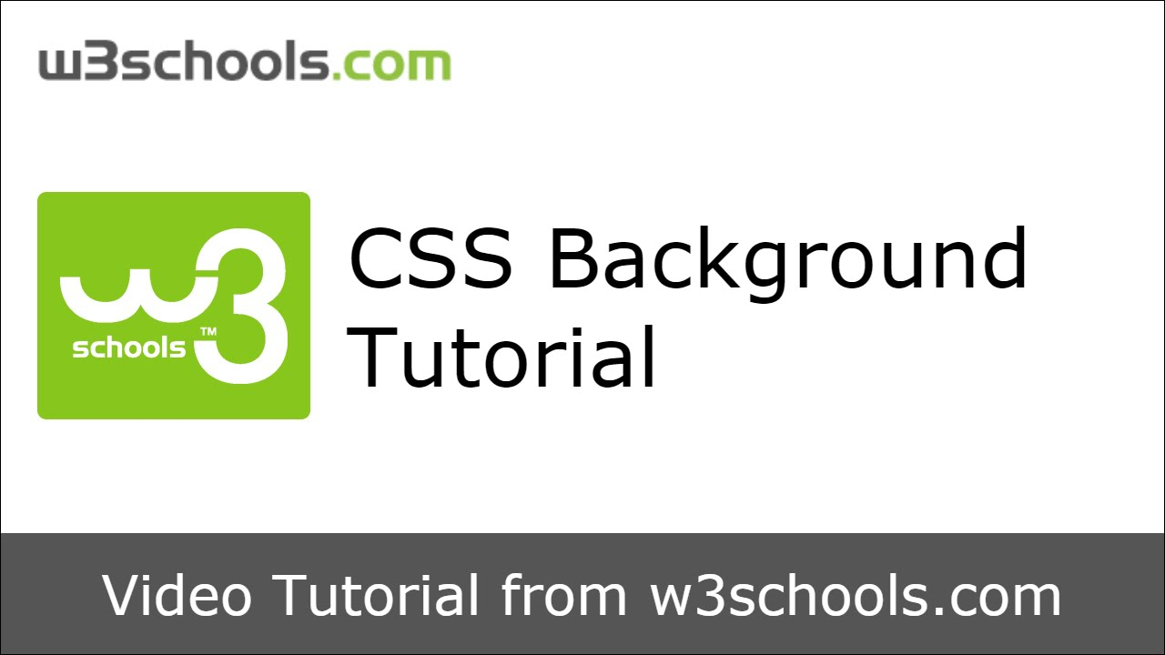 W3Schools Css Background Tutorial throughout Search Icon W3Schools