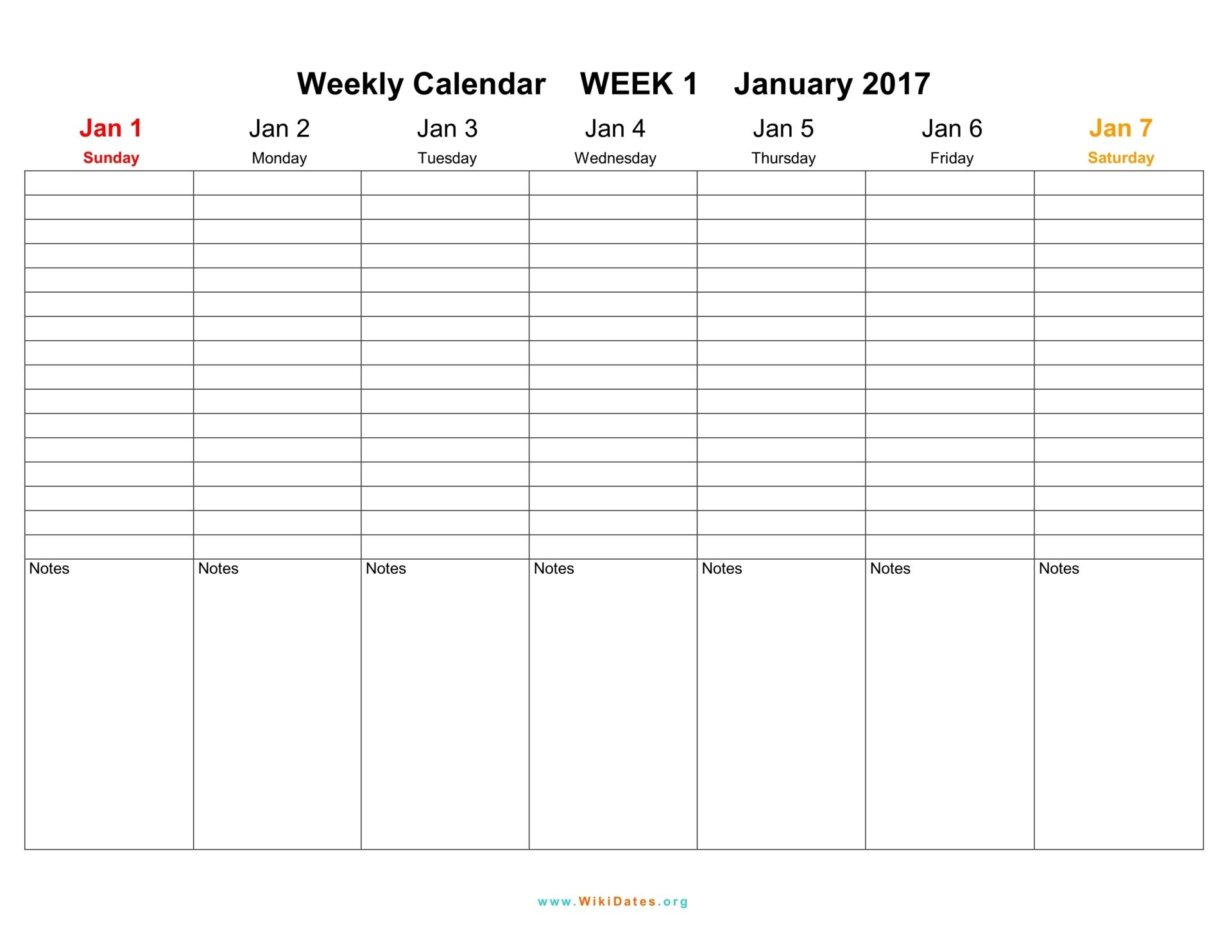 Weekly Calendar  Download Weekly Calendar 2017 And 2018 with 3 Week Blank Calendar