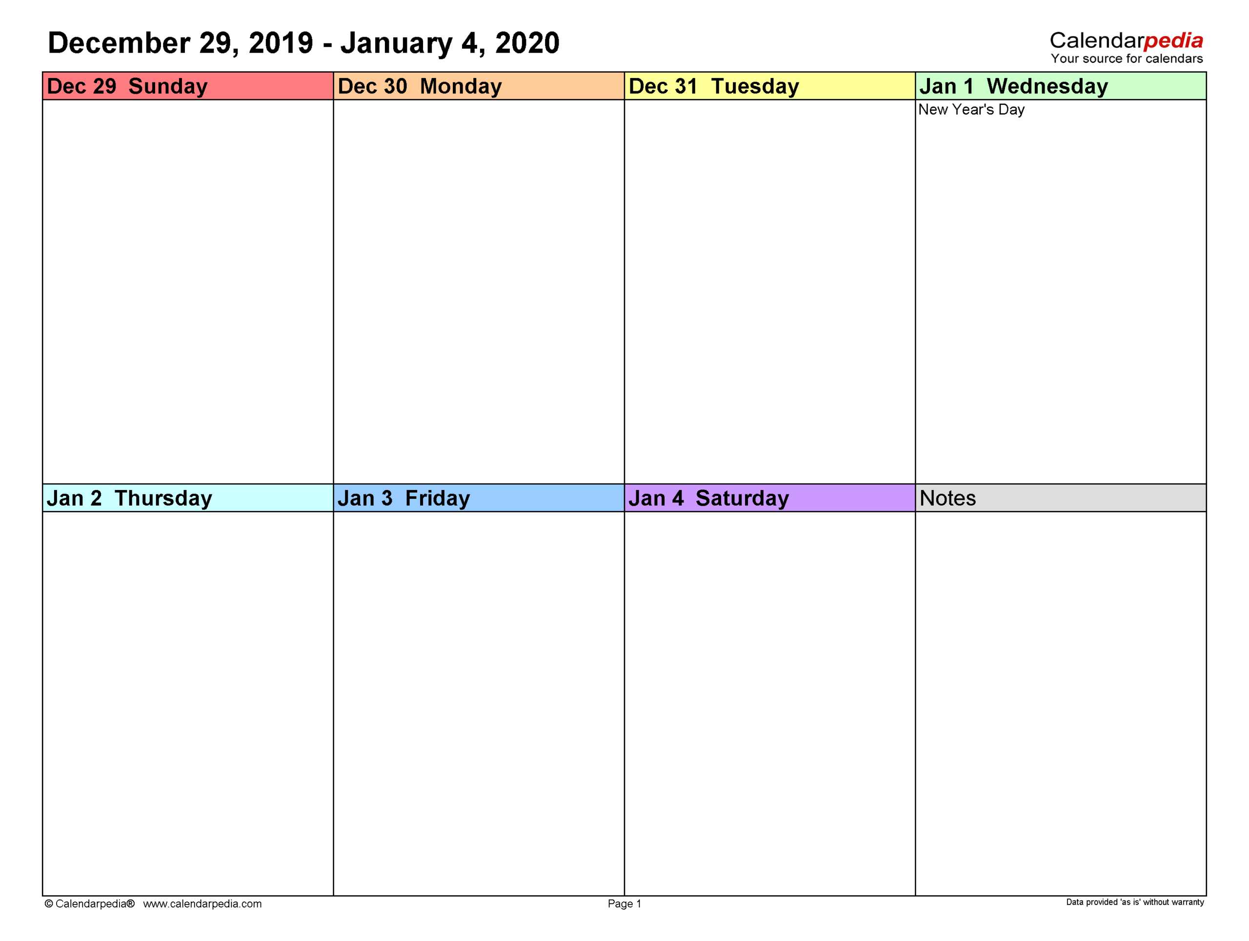 Weekly Calendars 2020 For Word  12 Free Printable Templates throughout 3 Week Blank Calendar