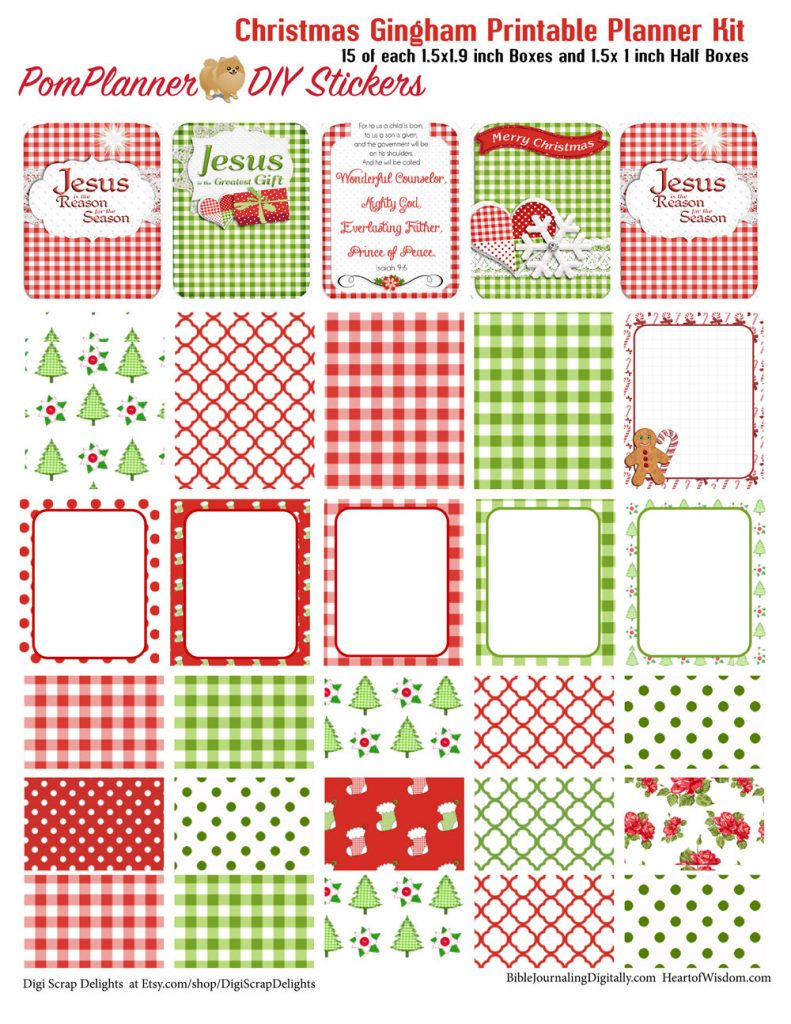 Winter Planner Kits And Free Planner Stickers  Bible for Holiday Stickers For Calendars