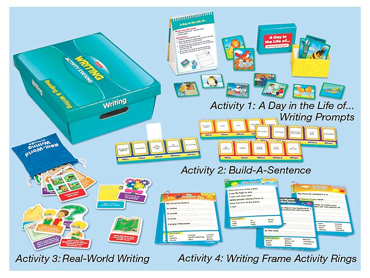 Writing Activity Stations | Writing Activities intended for Lakeshore Learning Writing Prompts