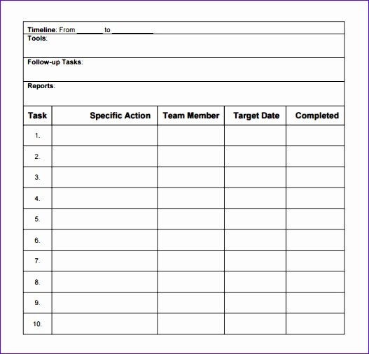 10 Action Plan Excel Template  Excel Templates  Excel pertaining to Time And Action Calendar Excel