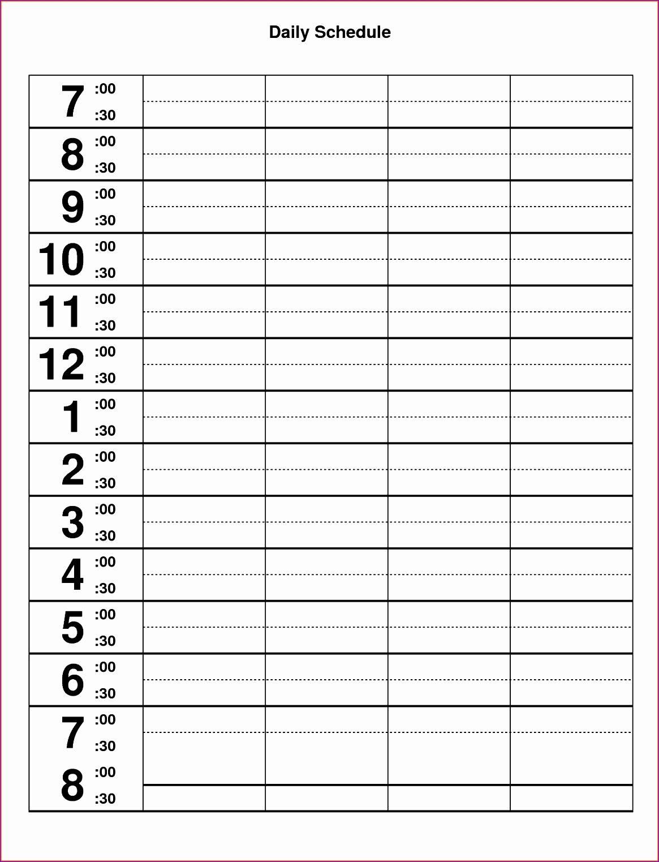 10 Excel Hourly Schedule Template  Excel Templates regarding Excel Day Planner