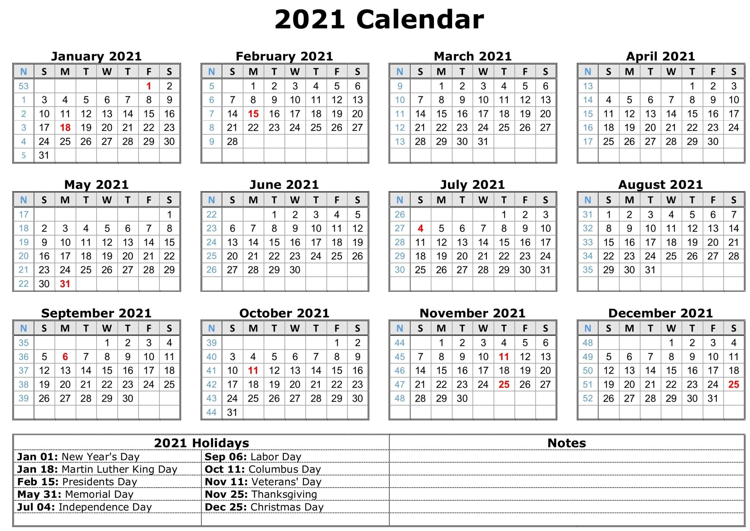 12 Month Calendar 2021 Printable  Template Calendar Design in Printable 3 Month Calendar 2021 Free