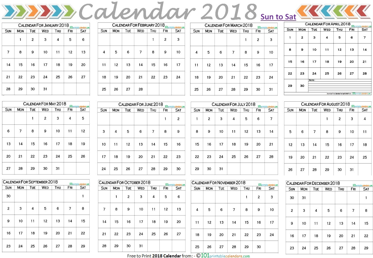 12 Month Calendar On One Page With Notes  Template with Calendar Template 12 Months One Page