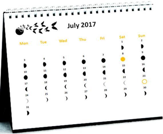 12 Months Moon Phase Calendar September 2017 To August 2018 regarding Calendar 12 Moon Phases