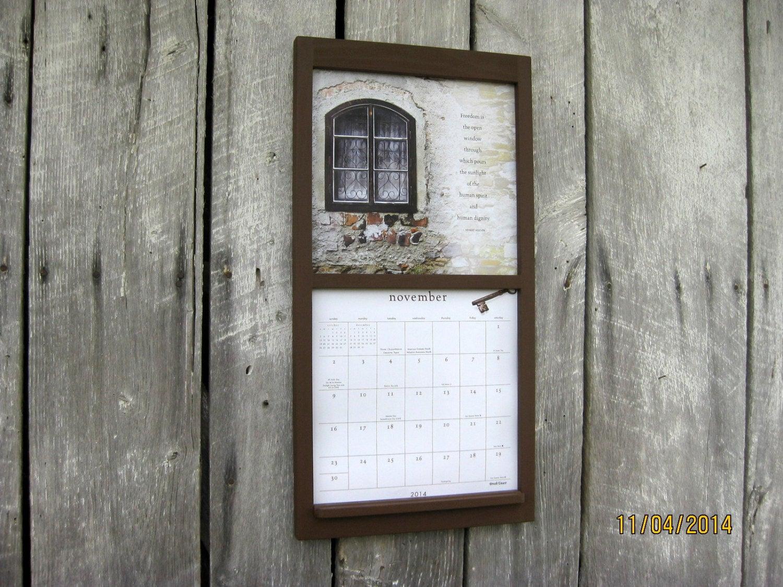 12 X 24 Calendar Wood Frame Holder In Warm By Sugarshackshoppe within Calendar Frames And Holders