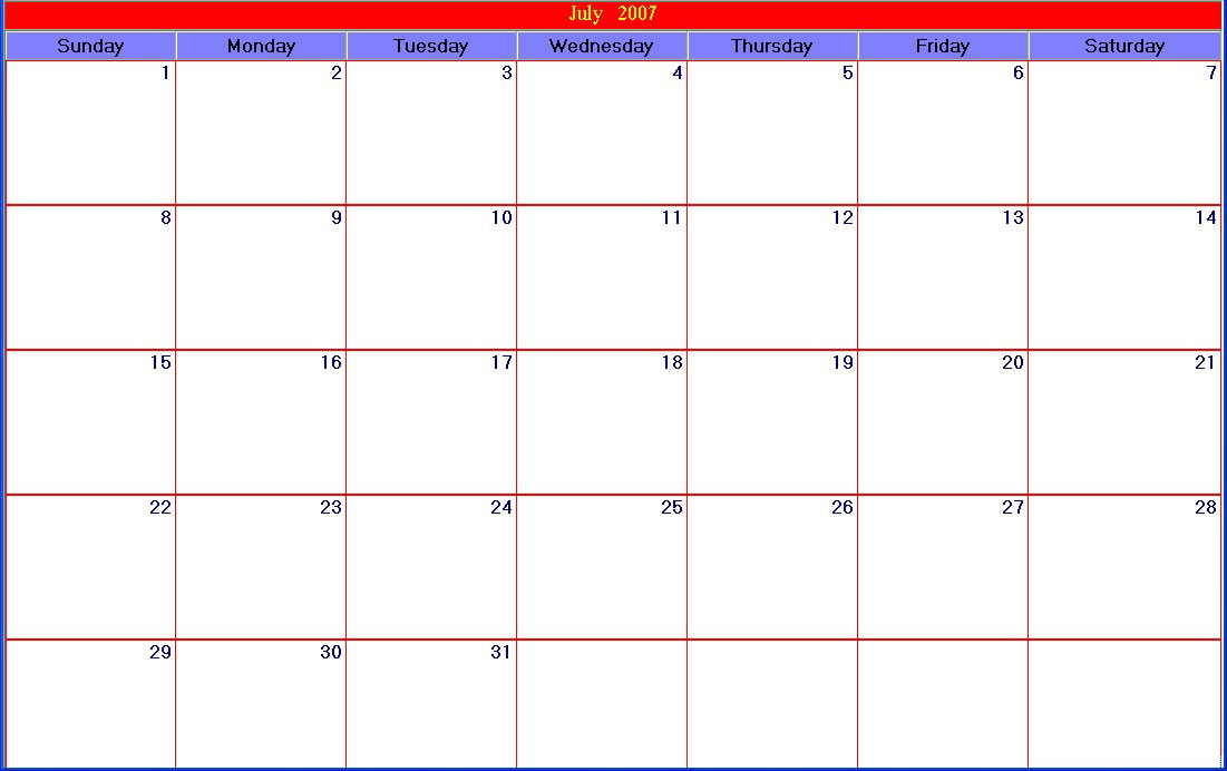 15 Calendar Grid Template Images  Blank Calendar Grid throughout 30 Day Calendar Template