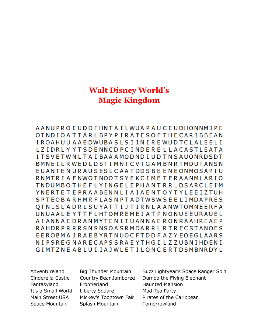 15 Free Disney Word Searches | Kittybabylove throughout Disney Princess Word Search Printable