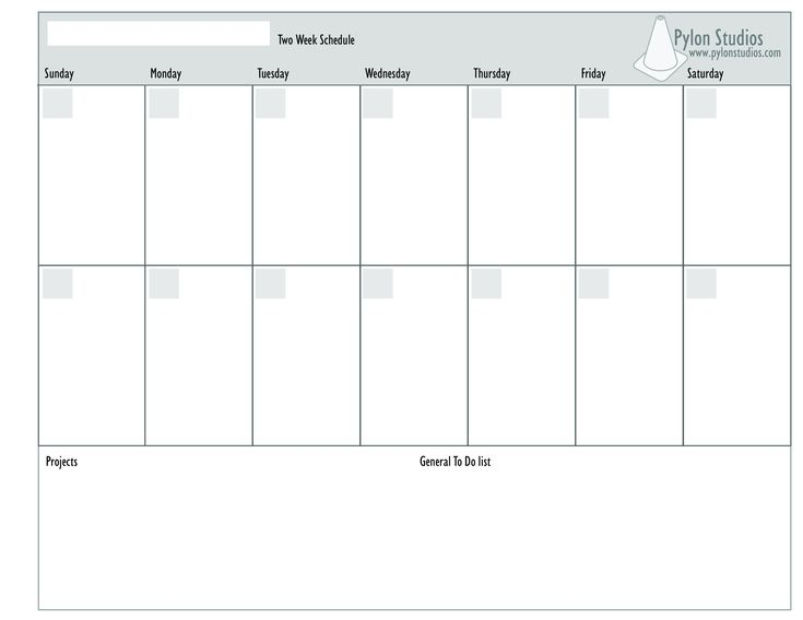 2 Week Calendar  How To Create A 2 Week Calendar within Excel Week Calendar Template