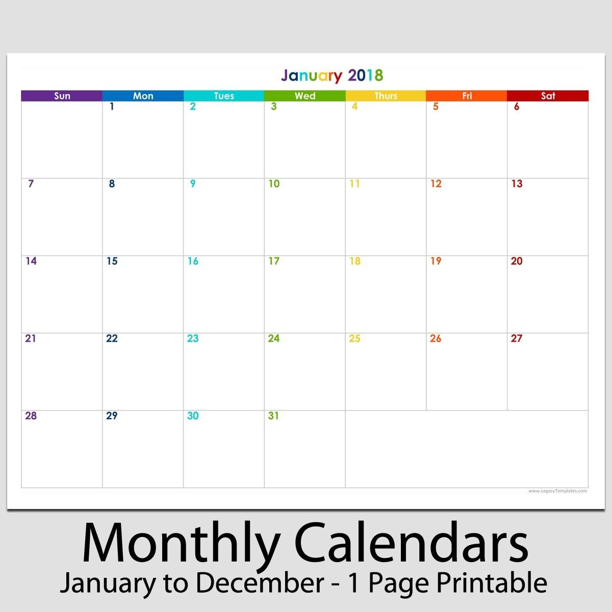 "2018  12 Month Landscape Calendar  8 12"" X 11"" | Legacy with Blank 12 Month Calendar"