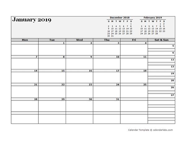 2019 Blank Three Month Calendar  Free Printable Templates inside Three Month Calendar Printable