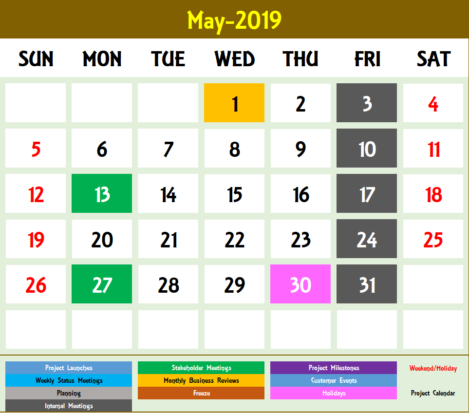 2020 Excel Calendar Template  Excel Calendar 2020 Or Any Year pertaining to Yearly Event Calendar Template Excel