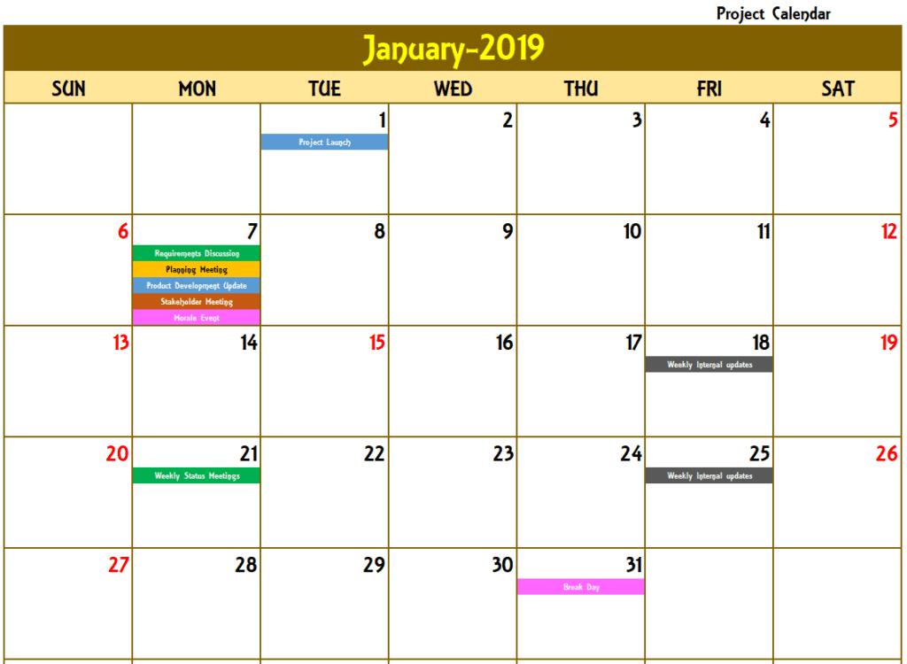 2020 Excel Calendar Template  Excel Calendar 2020 Or Any Year with Yearly Event Calendar Template Excel