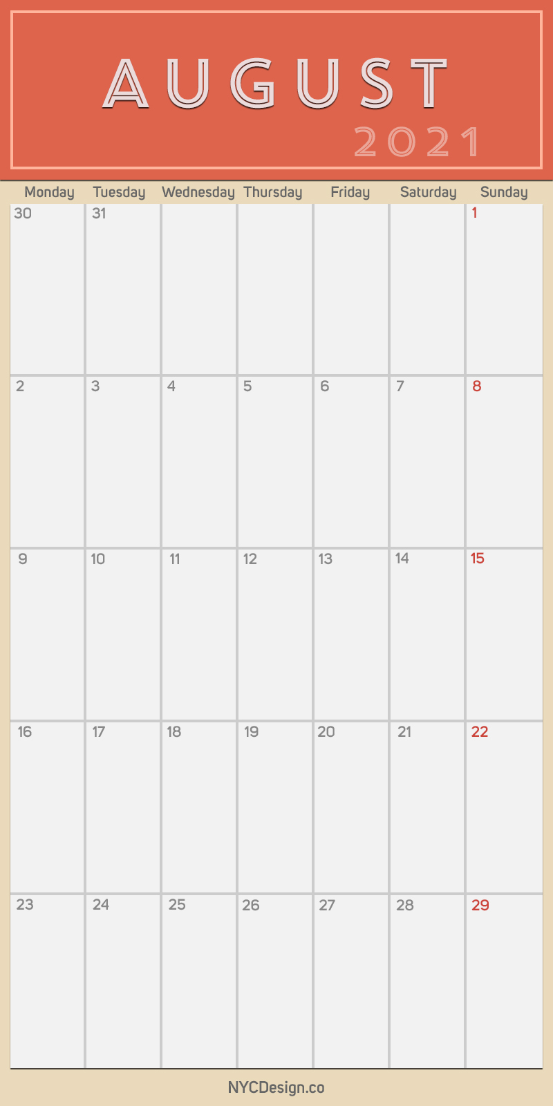 2021 August  Monthly Calendar With Holidays, Printable pertaining to Free Calendar Template August 2021