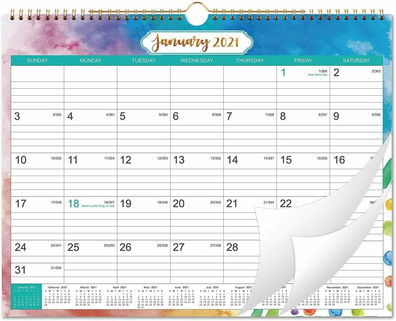 2021 Calendar  Month Wall With Julian Date, Large regarding 2021 Yearly Julian Calendar