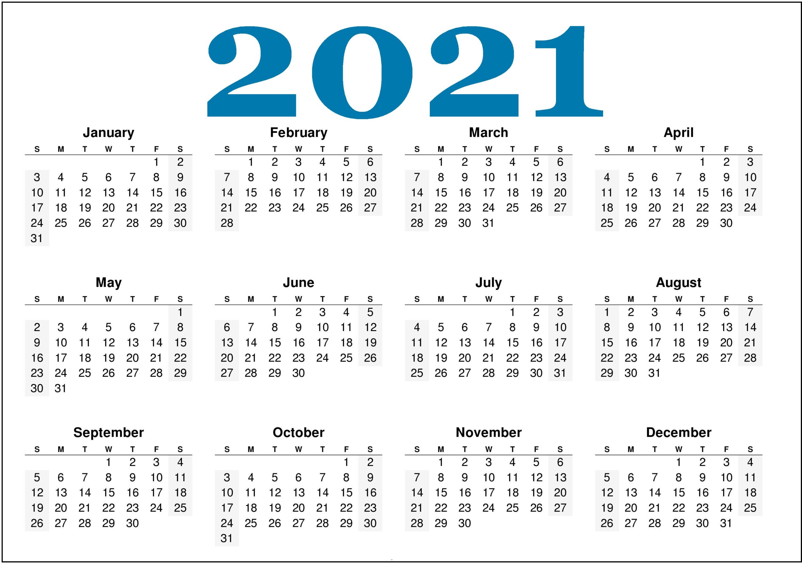 2021 Calendar Printable With Holidays  Printable Calendar inside Important Awarness Dates 2021 Australia