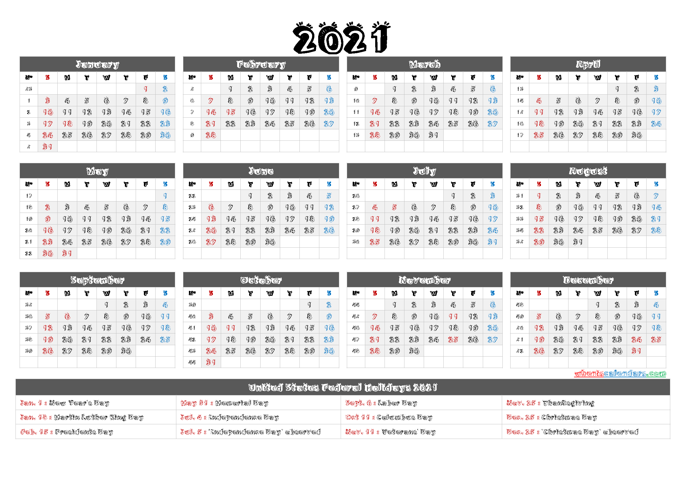 2021 Calendar With Week Numbers  6 Templates  Free throughout Printable 3 Month Calendar 2021 Free