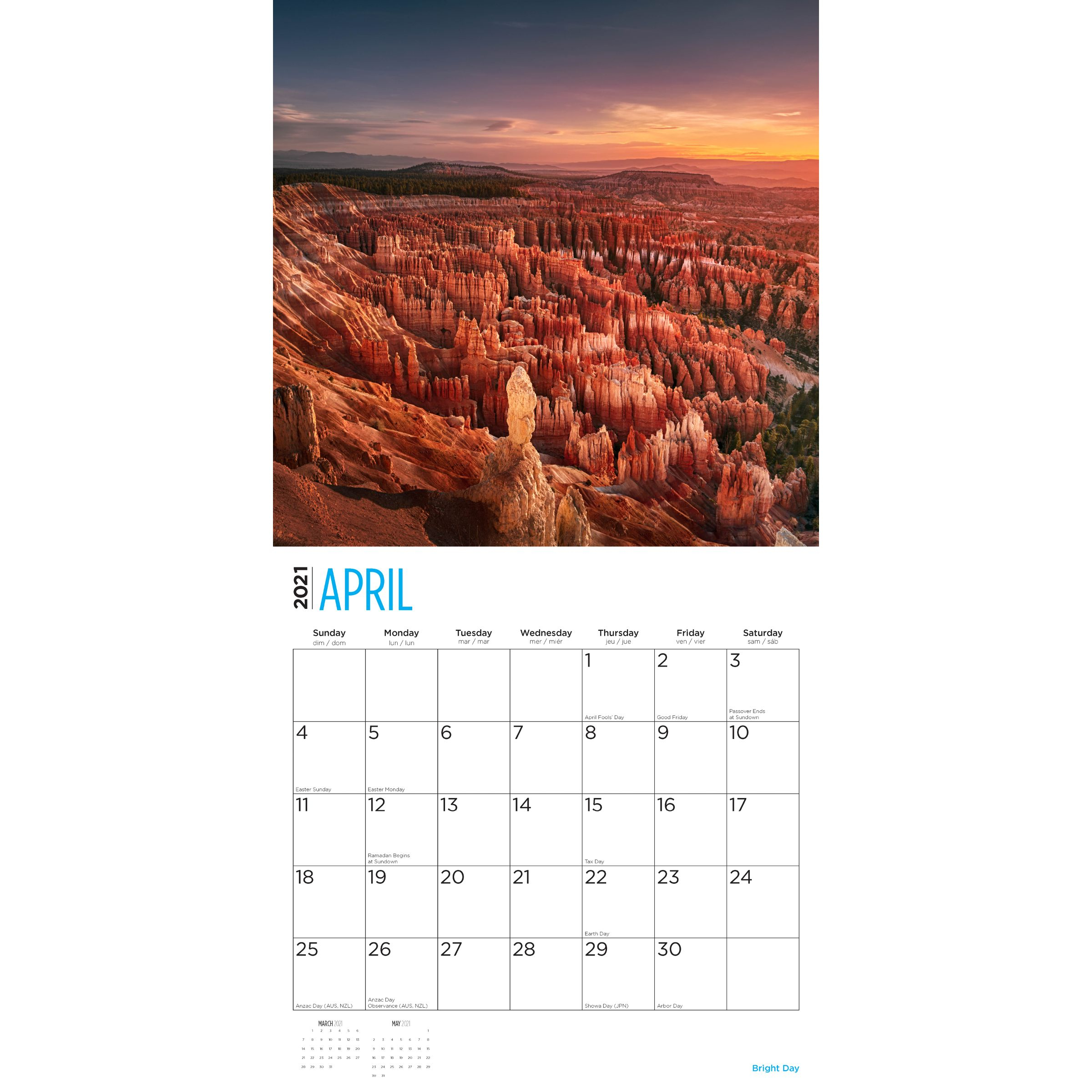 2021 National Parks Wall Calendar  Bright Day Calendars regarding National Food Calendar 2021