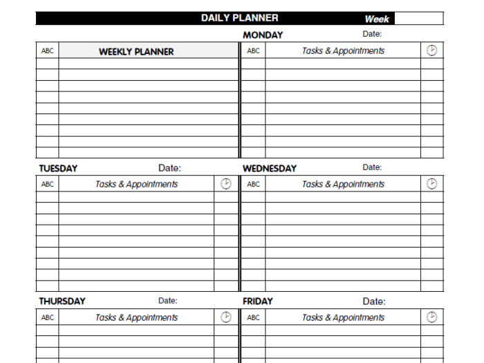 21 Free Daily Planner Templates  Ms Word, Ms Excel And Pdf with regard to Daily Agenda Template Word