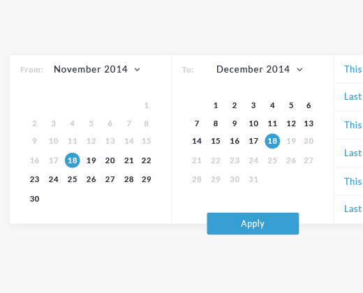 28 Datepickers For Website Ui And Mobile Apps  Bittbox for Calendar Date Range Picker Android
