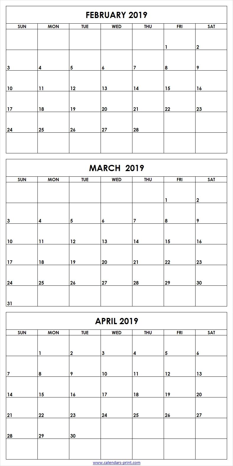 3 Month Blank Printable   Calendar Template Printable inside Three Month Calendar Printable