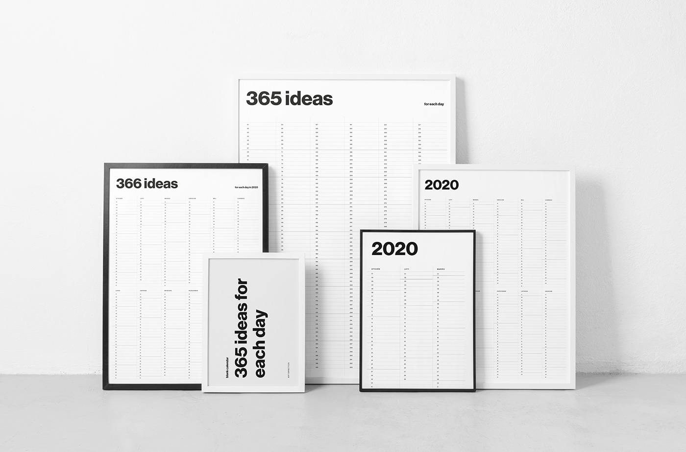 365 Ideas  Blank Calendar On Behance pertaining to Project 365 Calendar