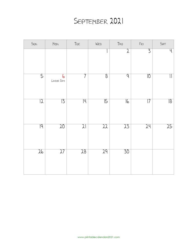 40+ September 2021 Calendar Printable, September 2021 pertaining to 3 Month Printable Calendar Templates 2021 Sept