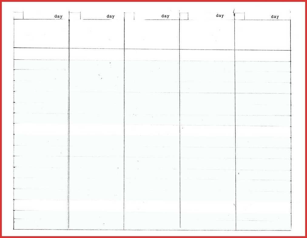 5 Day Week Calendar Template | Calendar Template Printable with regard to 5 Day Week Calendar Template
