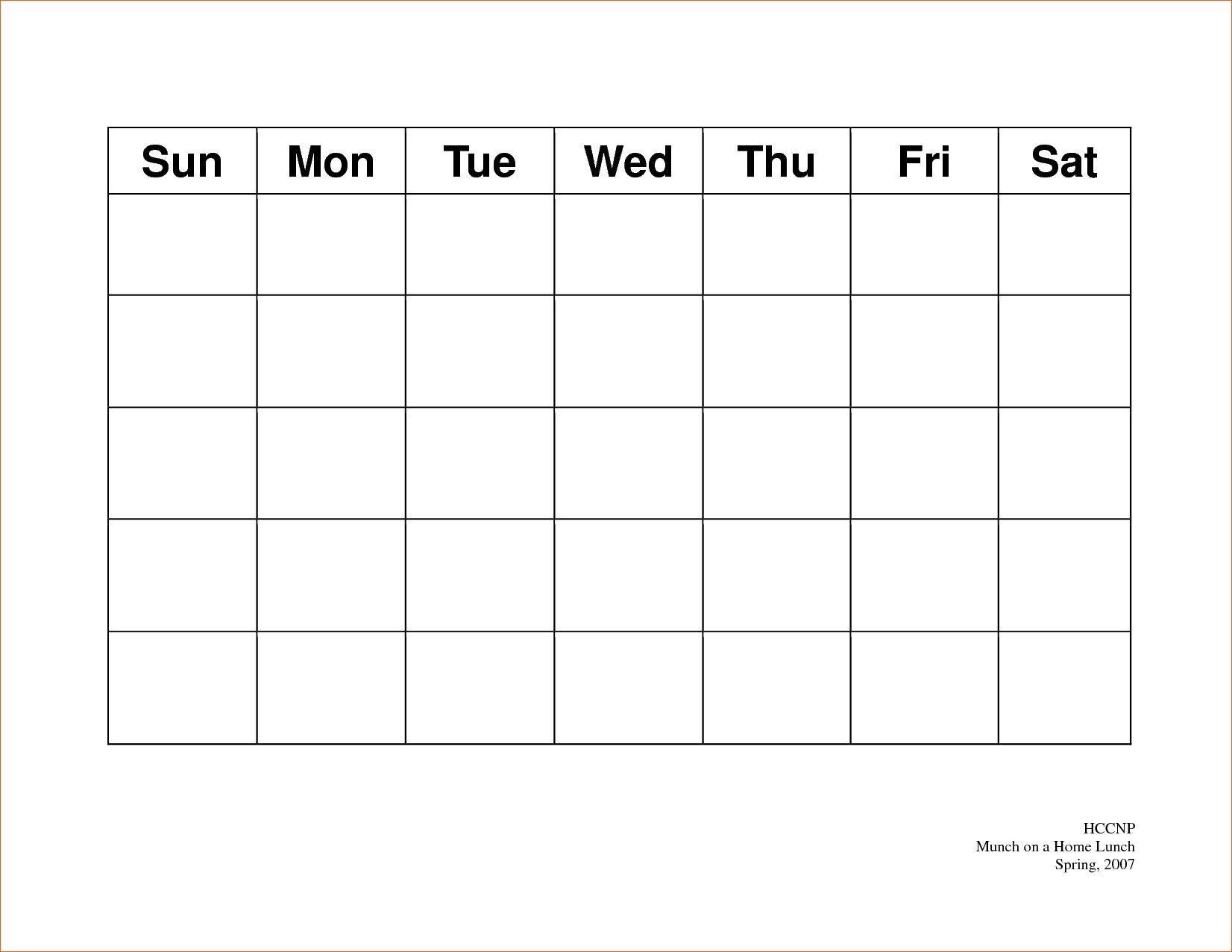 5 Day Week Calendar Templates | Calendar Template Printable intended for 5 Day Week Calendar Template
