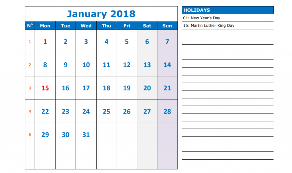 50+ Calendar 2018 Templates  Printable, Word, Pdf, Excel intended for Quarterly Calendar Excel