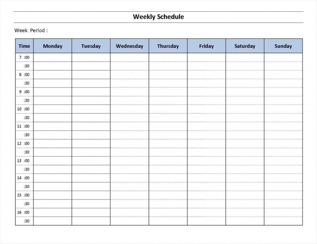 7 Day Calendar Template ~ Addictionary for 7 Day Calendar Template