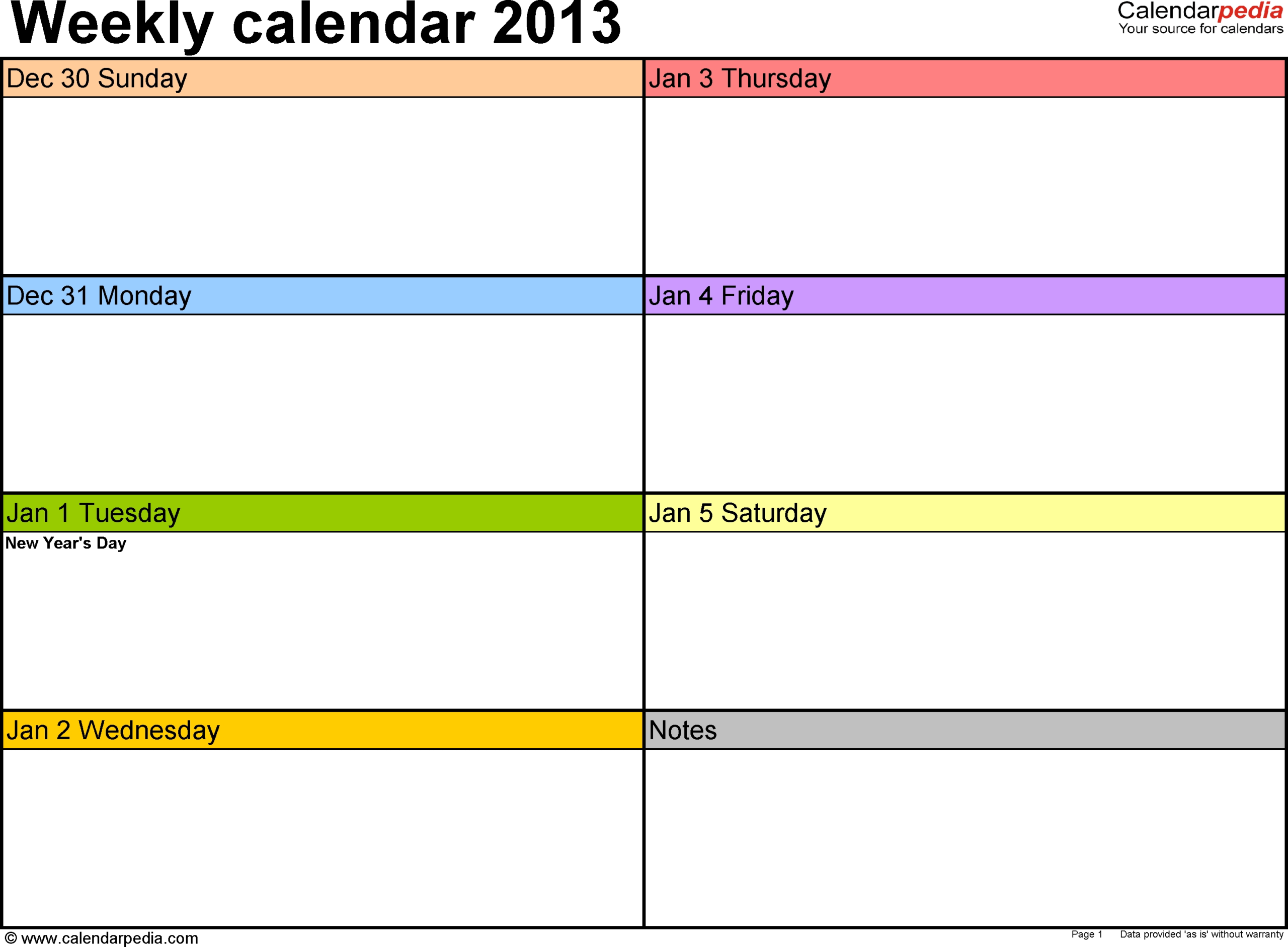 7 Day Calendar Template Fillable  Calendar Inspiration Design throughout 7 Day Calendar Template