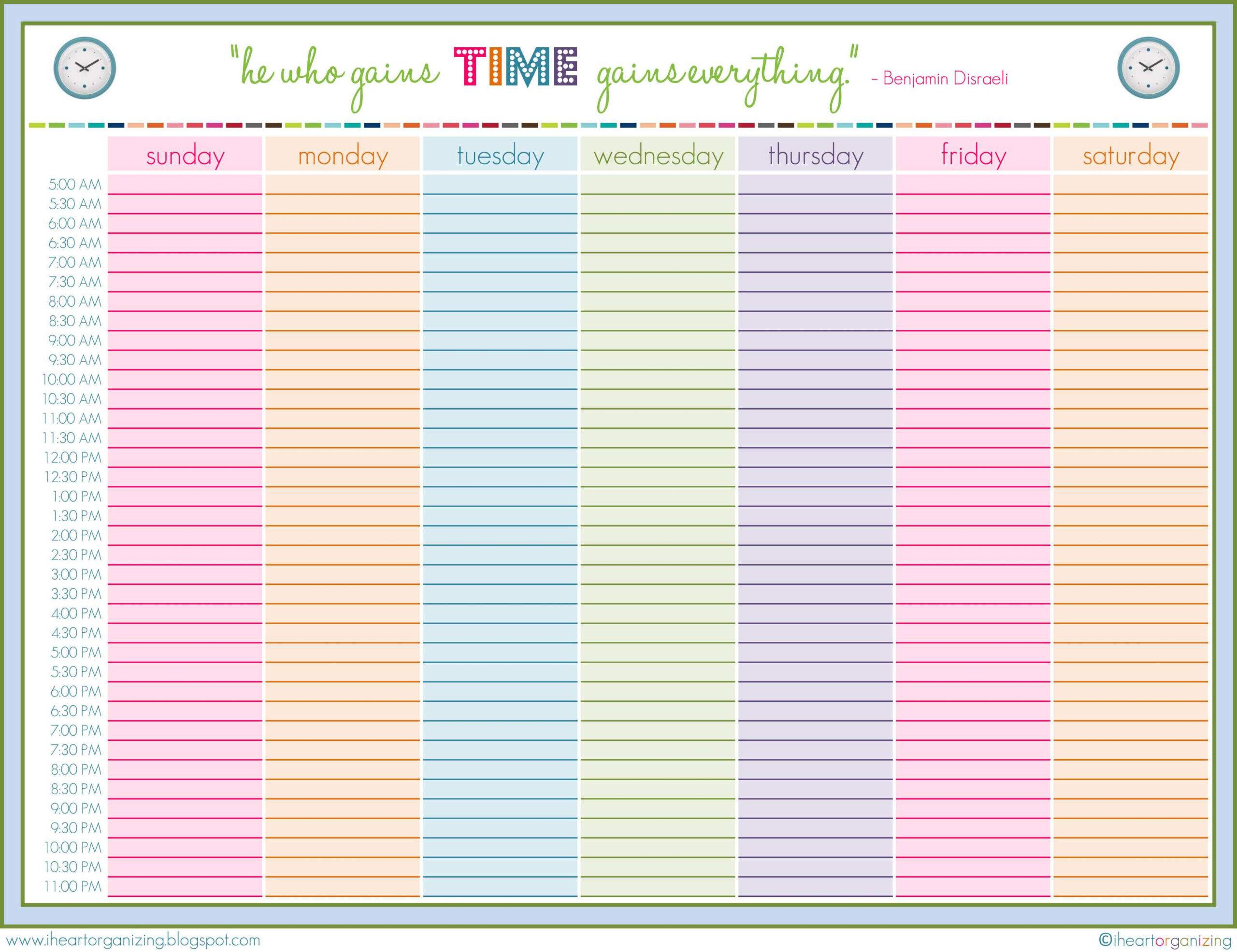71 Customize Weekly Class Schedule Template Pdf In throughout Weekly Class Schedule Template