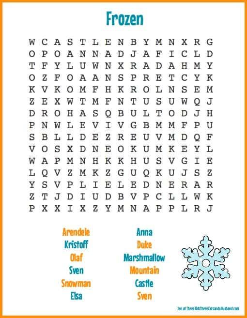 8 Free Printable Disney Princess Word Searches for Disney Princess Word Search Printable