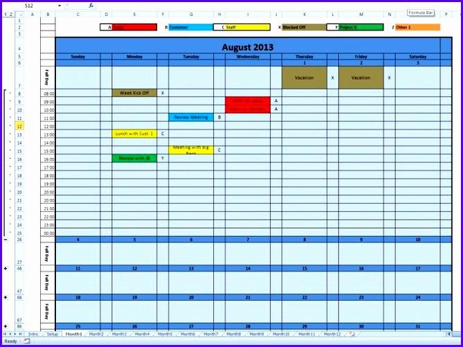 9 Download Calendar Template Excel  Excel Templates within Excel Quarterly Calendar Template