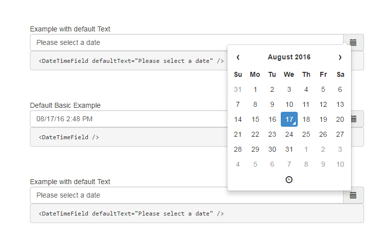 A React.js Datetime Picker For Bootstrap with regard to React Native Calendar Agenda Example