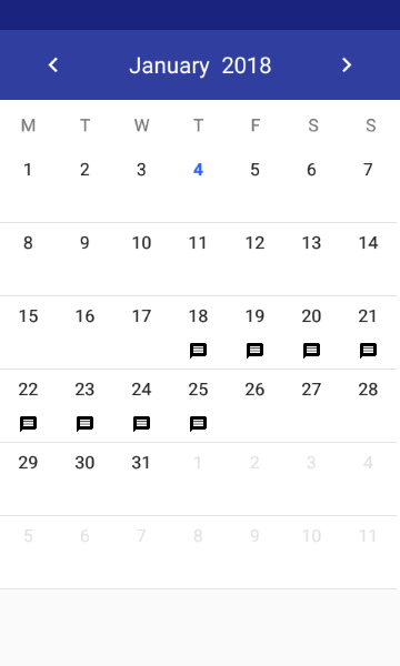 A Simple And Customizable Calendar Widget For Android in Calendar Date Range Picker Android