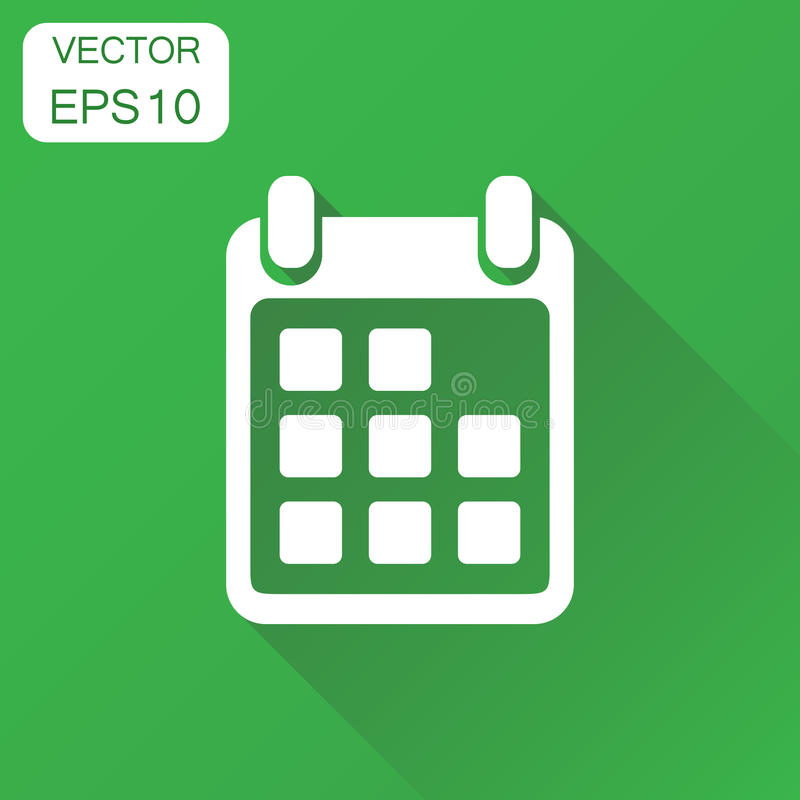 Agenda Green Blue Button Style Stock Illustration for Calendar Icon Green