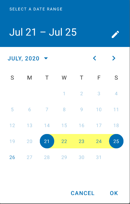 Android  Material Date Range Picker Selection Color pertaining to Calendar Date Range Picker Android