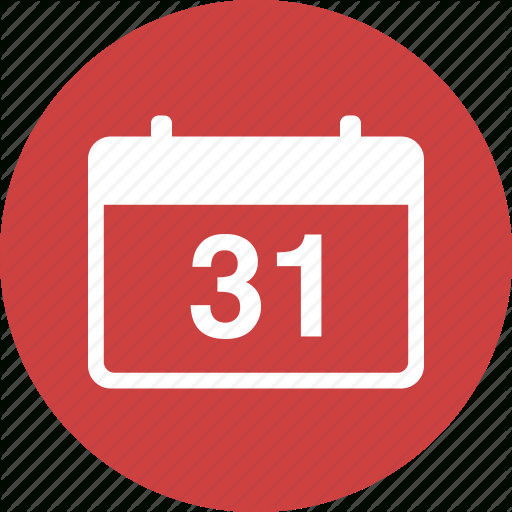 Appointment, Calendar, Circle, Date, Deadline, Due, Event Icon intended for Calendar Icon Red